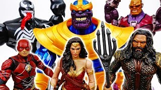 Thanos With Infinity Gauntlet Is Unstoppable~! Go Wonder Woman Aquaman Flash - ToyMart TV