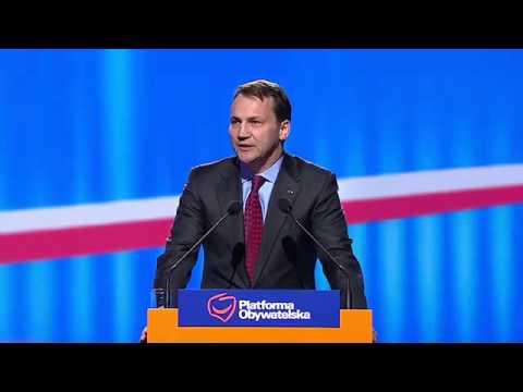 Radosław Sikorski - Konwencja Krajowa Platformy Obywatelskiej w Chorzowie