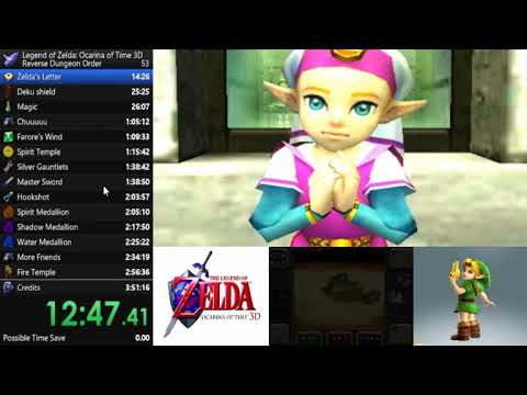 Ocarina of Time 3D Reverse Dungeon Order Speedrun in 3:23:32