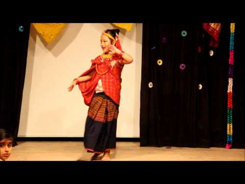 Bjorn int skole.....Asian  Cultural Festival 2012...Nepali Kids Dancing N Singing Part 1