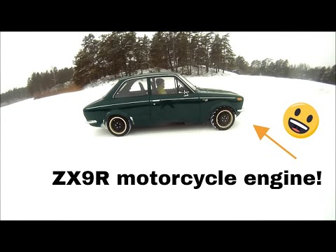 Kawasaki Corolla KE11 on ice. Ninja ZX9R engine.