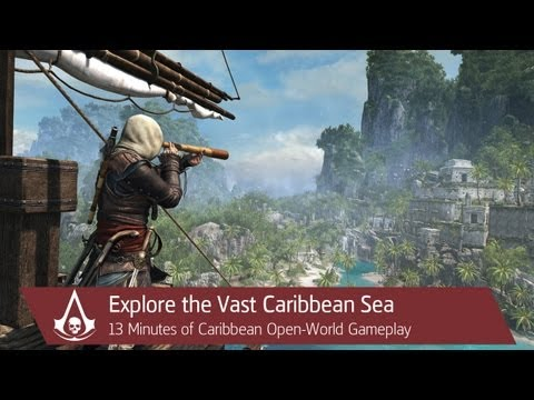 13 Minutes of Caribbean Open-World Gameplay | Assassin's Creed 4 Black Flag [North America]