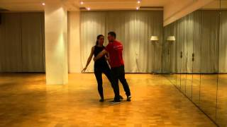 Zouk lessons Germany. Beginners. 18.10.15. Combi: the door, turning together, bum. rev. & elastic