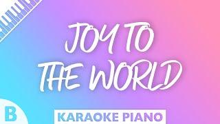 Joy To The World Piano Karaoke Key Of B