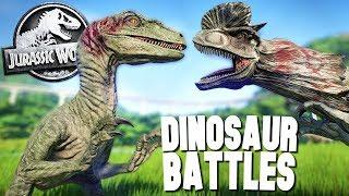 DINOSAUR BATTLES! - Jurassic World Evolution