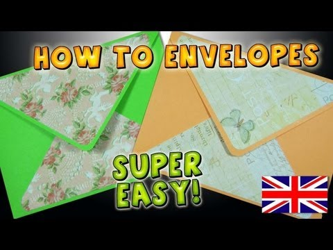 How to make an envelope easy papercraft diy crafts ideas for Diy crafts youtube channels