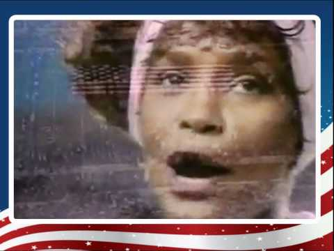 Whitney Houston Star Spangled Banner-live video