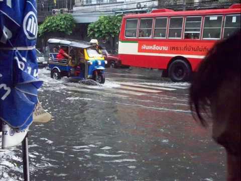 Flood after monsoon rain. – Asia.
