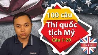 100 Câu ôn tập cho Form N-400 (Từ câu 1 - 20)