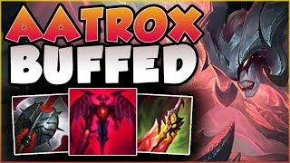 WTF! REALLY RITO?? EVEN MORE BUFFS TO AATROX?? NEW AATROX SEASON 8 TOP GAMEPLAY! - League of Legends
