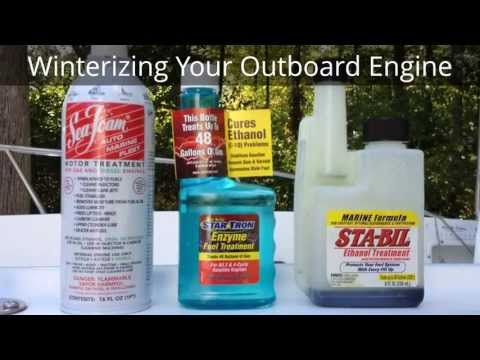 How to Winterize Evinrude. Johnson. and other Outboard Boat Engines HD