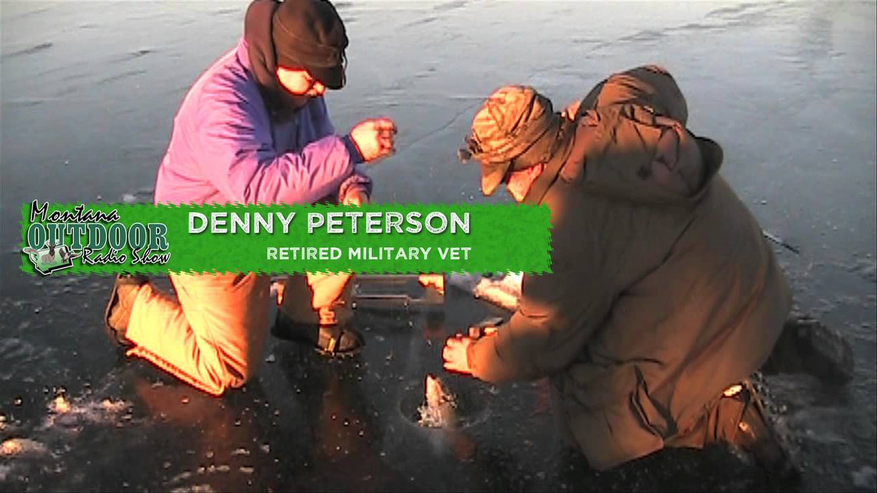 Ice fishing in montana nelson reservoir youtube for Montana out of state fishing license