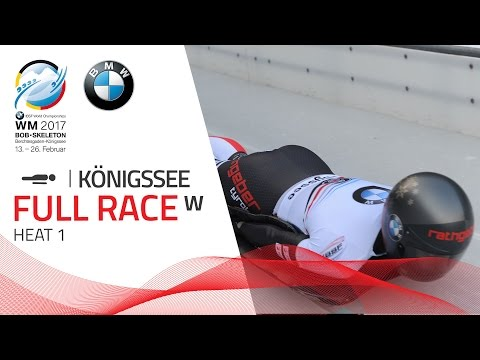 Full Race Women's Skeleton Heat 1 | Königssee | BMW IBSF World Championships 2017