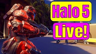 JOIN ME IN GAME! HALO 5 XBOX ONE X LIVE! Halo 5 Warzone | HALO MCC UPDATE | Road to HALO INFINITE
