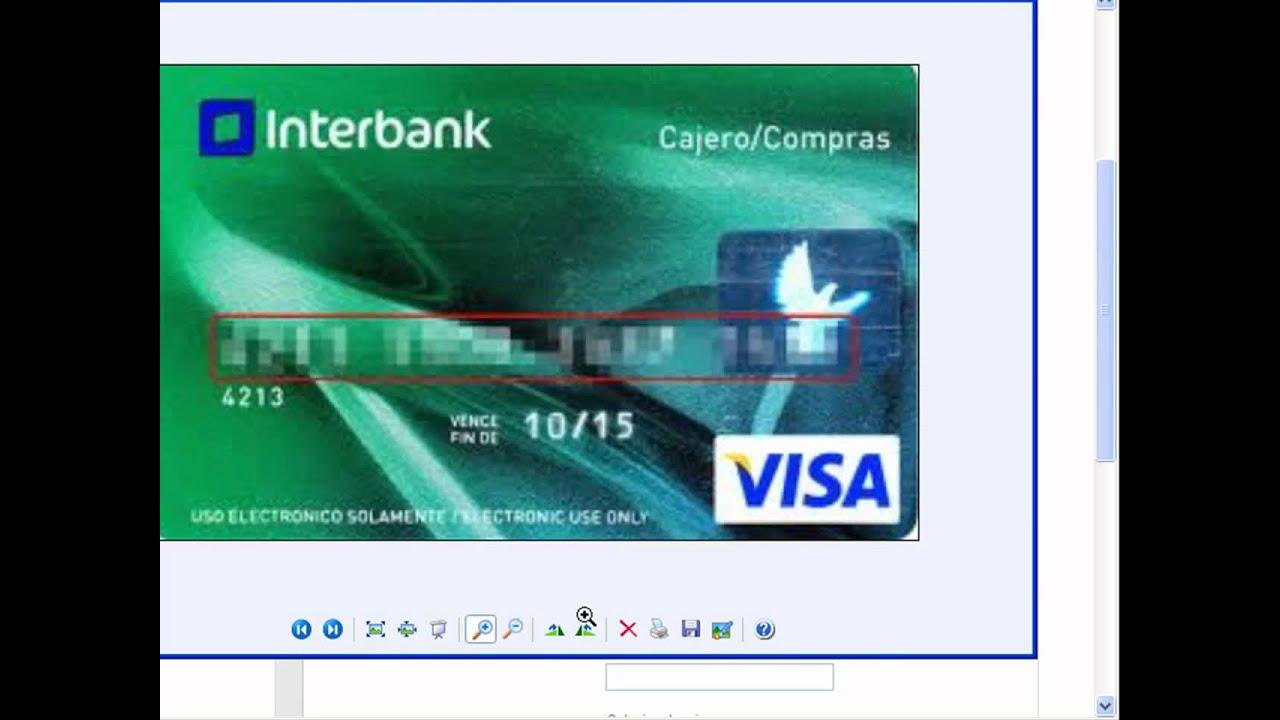 La Cual ES El Numero De Tarjeta Visa
