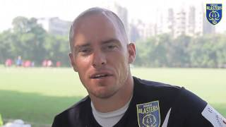 Hume tells us how he feels about his first ever goal for Kerala Blasters.