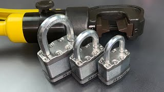 [765] How Tough are Master Lock's Boron Carbide Shackles?
