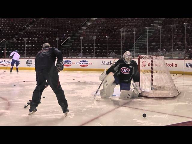 Habs' Price drills with coach Groulx