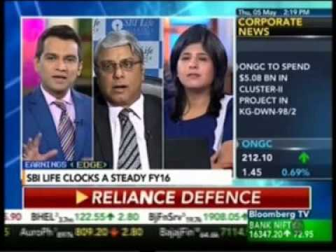 Bloomberg TV Market Pulse interview with Mr. Arijit Basu   MD & CEO, SBI Life