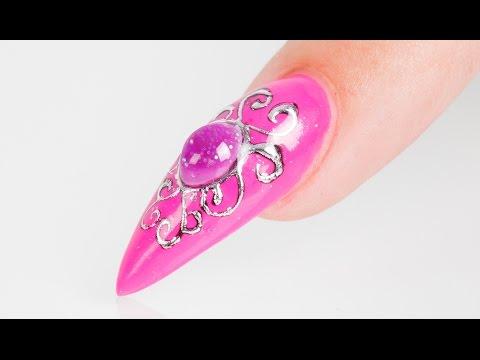 Liquid Jewel Nail Art Tutorial