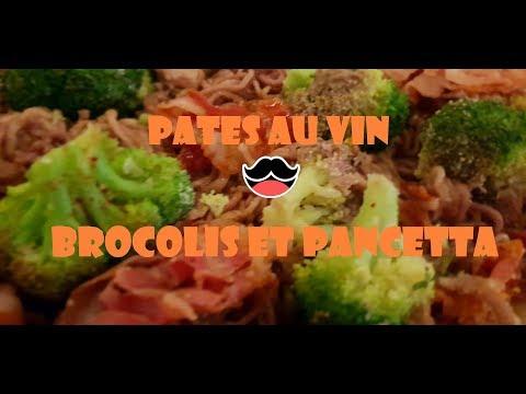 Recette Thermomix: Pâtes au vin avec brocolis et pancetta