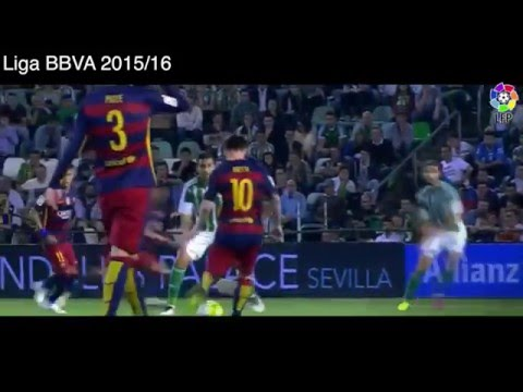 Gol de Luis Suarez vs Real Betis, Real Betis 0 - 2 Barcelona, Liga BBVA 2016.