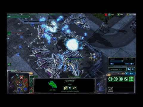 StarCraft 2 2v2 Urban Brawl Carriers/Cruisers Galore PT2 HD 1080P Terran Protoss Gameplay Footage