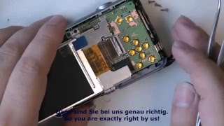 1M42 Samsung ES65, ‪so baut man ein neues Display (LCD) ein (camera repair)‬