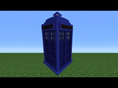 Minecraft Tutorial: How To Make The Tardis Exterior