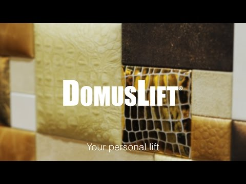 DomusLift Leather, home lift with leather inner finishes