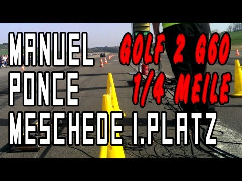 VW Golf 2 G60 G-Lader 1/4 Meile 1.Platz Meschede 2014   www.theibach-performance.de