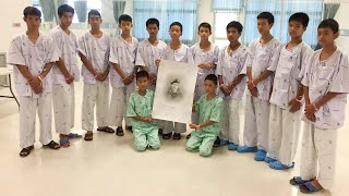 Rescued Thai soccer team holds a news conference