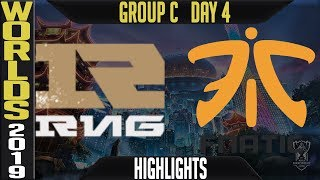 RNG vs FNC Highlights Game 1 | Worlds 2019 Group C Day 4 | Royal Never Give Up vs Fnatic