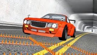 Massive Spike Strip Pileup Crashes #39 – BeamNG Drive | CrashBoomPunk