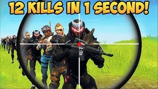 12 KILLS IN 1 SECOND?! - Fortnite Funny Fails and WTF Moments! #206 (Daily Moments)