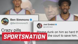 Ben Simmons And Joel Embiid Call Out Ball Family On Twitter | SportsNation | ESPN