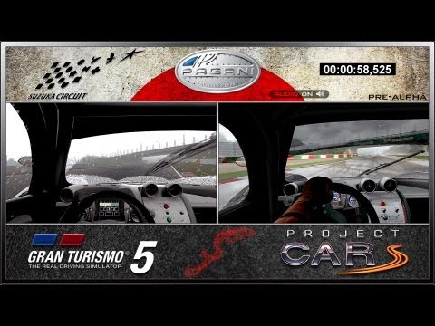 Gran Turismo 5 vs Project CARS em Suzuka