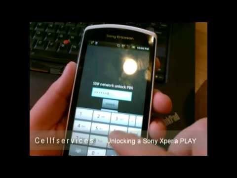How to Unlock a Sony Ericsson Xperia PLAY with unlock Code - Any carrier - Rogers Orange Vodafone