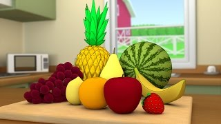 Cutting fruits in the kitchen