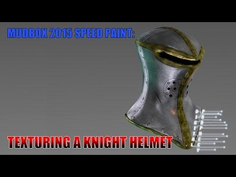 Mudbox 2015 Painting a Knight Helmet