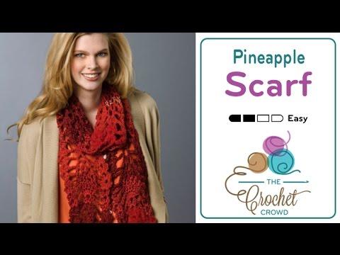 Crochet Pineapple Scarf Tutorial