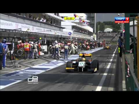 Sato and Richelmi Big Crash @ 2014 GP2 Hungary Race 1