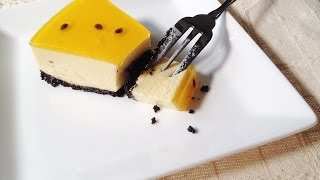 Cheesecake Chanh Dây - How to make Passion Fruit Cheesecake - English Sub