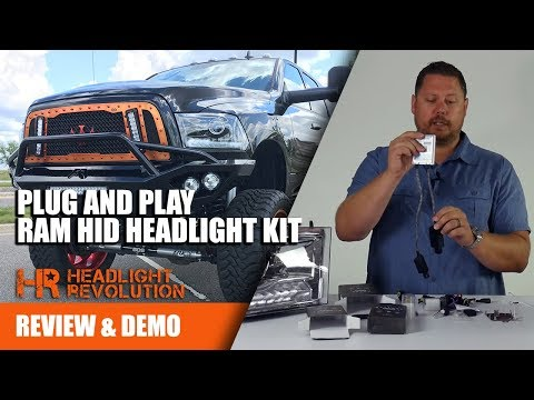 NEW AND BEST! 09-18 Dodge Ram 55w HID Plug and Play Kit - CANBUS / PWM Friendly!