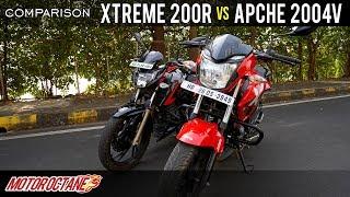 TVS Apache 200 4V vs Hero Xtreme 200R Comparison   Hindi   MotorOctane