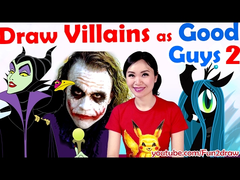 New art challenge: Draw Villains as GOOD GUYS! 2