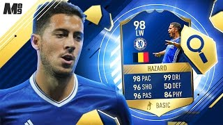 FIFA 17 TOTS HAZARD REVIEW | TOTS HAZARD 98 | FIFA 17 ULTIMATE TEAM PLAYER REVIEW