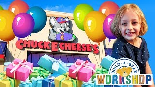 Chuck E Cheese & Build a Bear Happy Birthday Present for Chloe | Kinder Playtime It's a Toy Party!