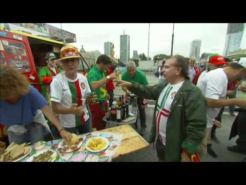 Czech and Portuguese fans prepare for kick-off