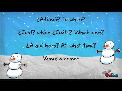 Spanish Interrogatives Jingle Bells Song/ Canción de los Interrogativos